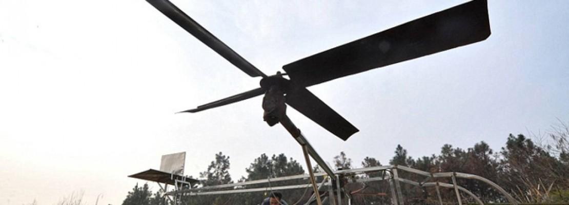 Χειροποίητο ελικόπτερο με υλικά… από μοτοσυκλέτα