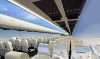 To αεροπλάνο του μέλλοντος: Χωρίς παράθυρα και γεμάτο από touch-screen τοίχους για απεριόριστο σερφάρισμα