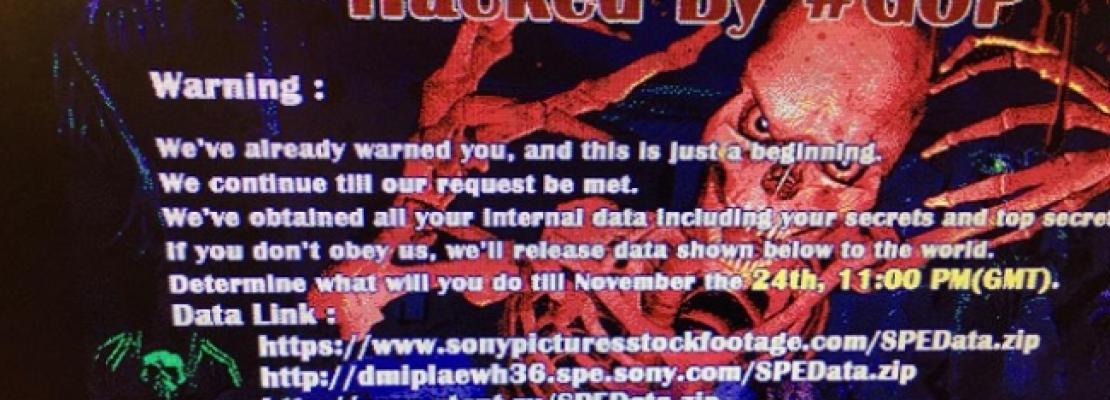 Hackers παρέλυσαν το δίκτυο της Sony Pictures Entertainment και εκβιάζουν το στούντιο