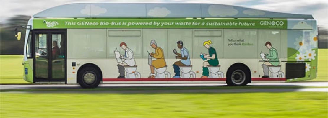 """Το πρώτο  """"Βιο-Λεωφορείο"""", που κινείται με ανθρώπινα απόβλητα και οικιακά λύματα αποχετεύσεων είναι πλέον γεγονός."""