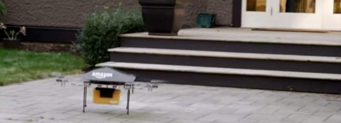 Επανάσταση από την Amazon- Παράδοση προϊόντων μέσω drones (BINTEO)