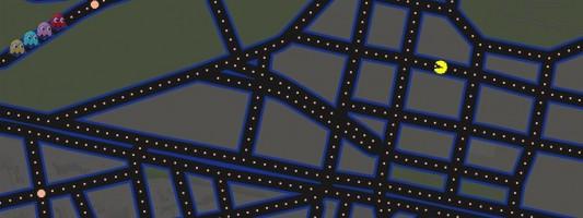 PacMan στους δρόμους της Αθήνας από τα Google Maps