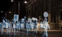 Η πρώτη διαδήλωση «φαντασμάτων» -Ολογράμματα έκαναν πορεία στην Ισπανία