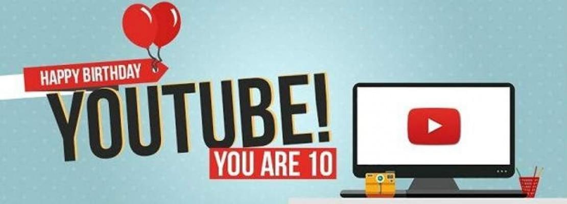 Το Youtube γιορτάζει 10 χρόνια: Αυτά είναι τα πιο δημοφιλή του βίντεο