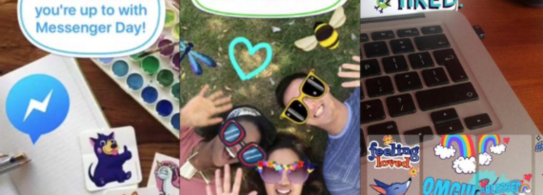 Messenger Day: Το Facebook αντιγράφει το Snapchat Stories