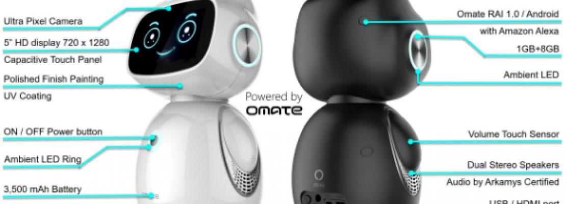 Yumi: Το μικροσκοπικό οικιακό ρομπότ με Android και Amazon Alexa