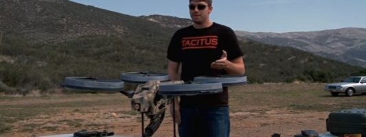 Quadrotor: Τέτοιο πρωτότυπο πολυβόλο σίγουρα δεν έχετε ξαναδεί!