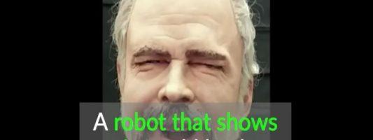 Ρομποτικό πρόσωπο με ανθρώπινες εκφράσεις
