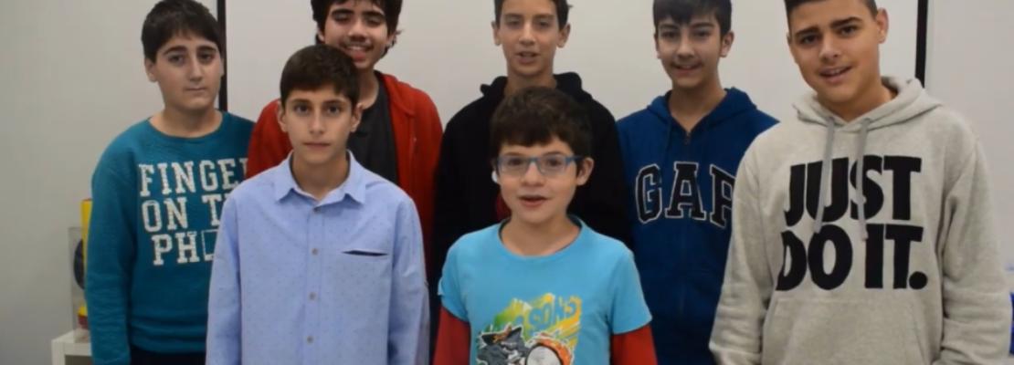 Ευχές από τα παιδιά της ρομποτικής: «Δημιουργούμε μαζί μία Ελλάδα πρωταθλήτρια στην τεχνολογία!»