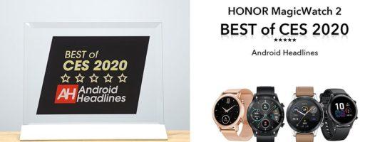 Διεθνής βράβευση για το νέο smart watch HONOR Magic Watch 2