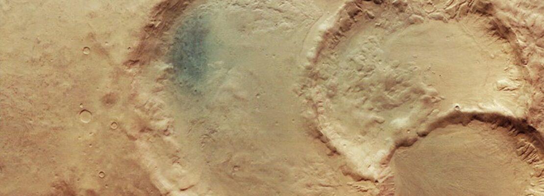 Ένα σπάνιο εντυπωσιακό τριπλό κρατήρα φωτογράφισε στον Άρη το Mars Express