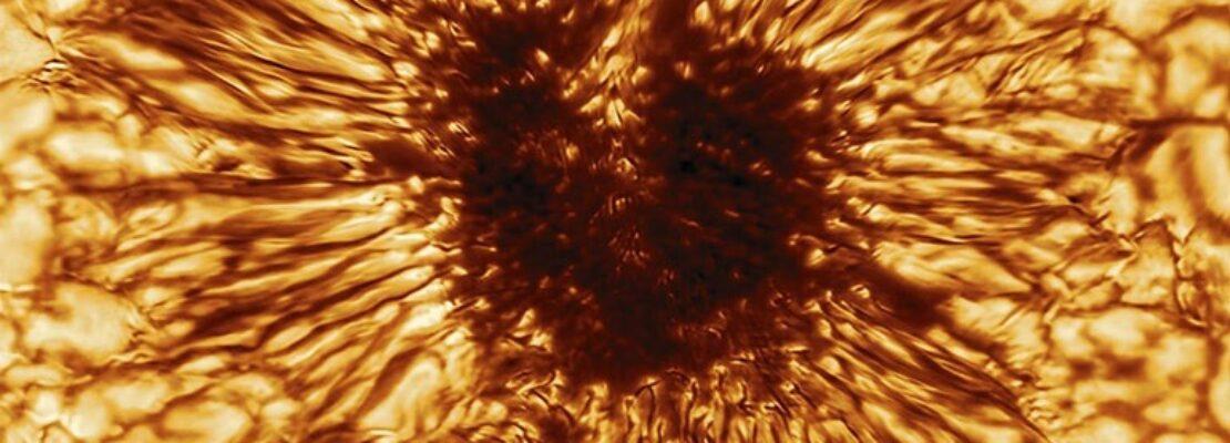 Εντυπωσιακή φωτογραφία ηλιακής κηλίδας μεγαλύτερης από τη Γη