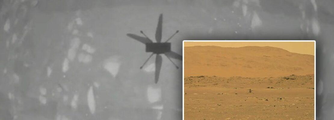 """Ιστορική πρώτη πτήση στον Άρη για το ρομποτικό ελικόπτερο """"Ingenuity"""" της NASA"""